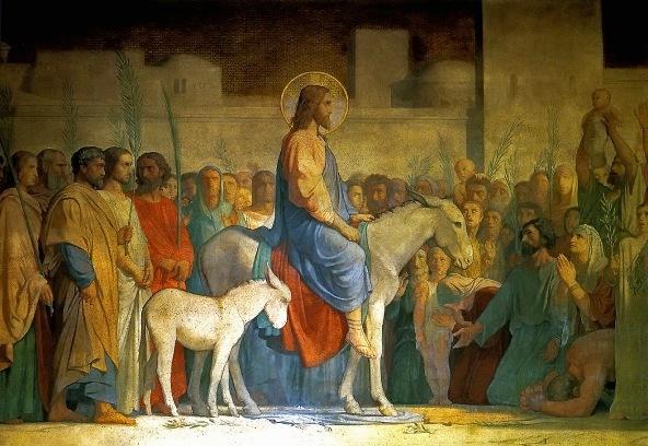 Christ comes into Jerusalem
